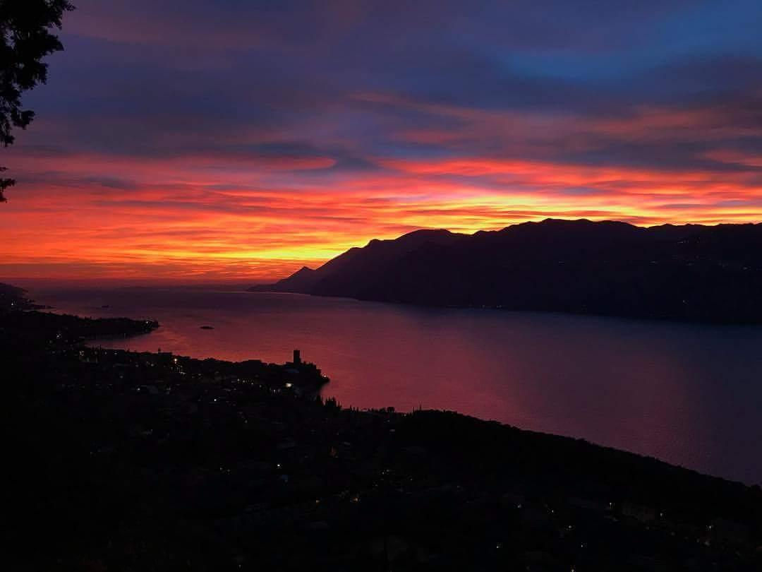 sunset in Malcesine