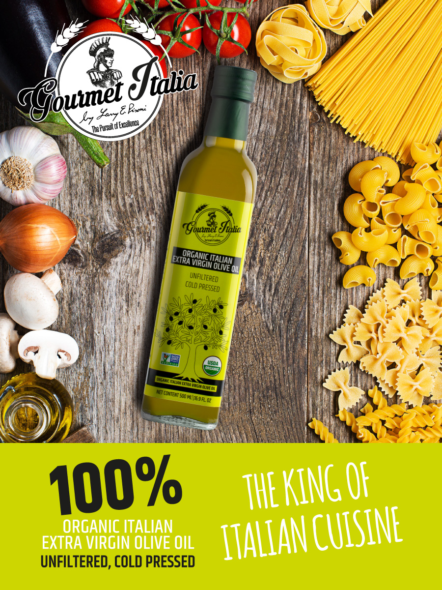 Gourmet Italia - Organic Extra Virgin Olive Oil Unfiltered