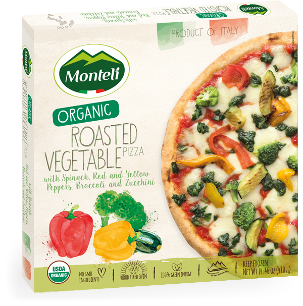 Gourmet Italia - ORGANIC ROASTED VEGETABLE PIZZA