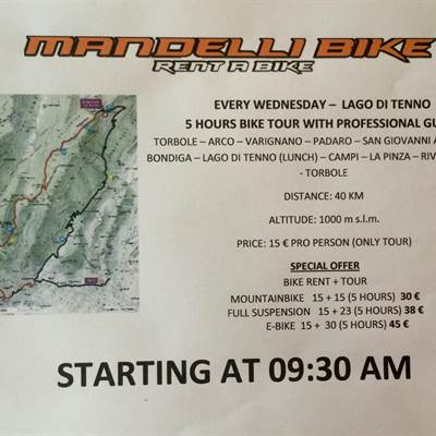 TOUR WEDNESDAY - Bike tour - Mandelli Bike Fahrradverleih Gardasee - Bike wear