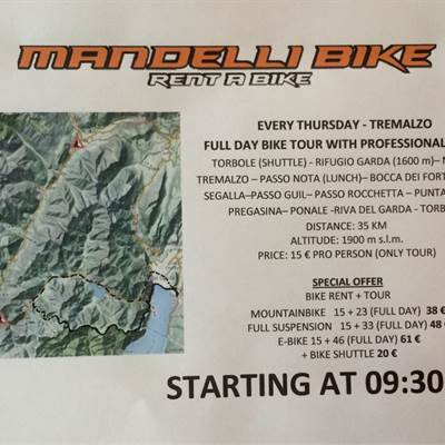 TOUR THURSDAY - Fahrradverleih Gardasee - Bike Tours 2016 - Mountainbiken am Gardasee
