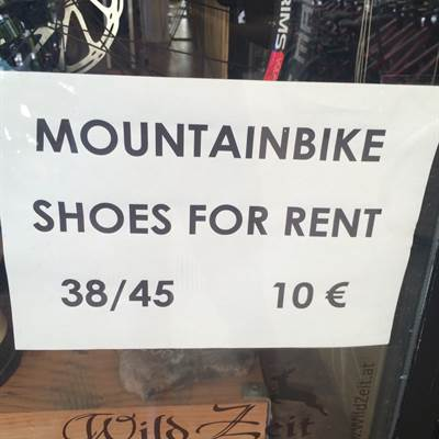 Mountain Bike shoes - Mandelli Bike rent - Bike rent - Fahrradverleih Gardasee