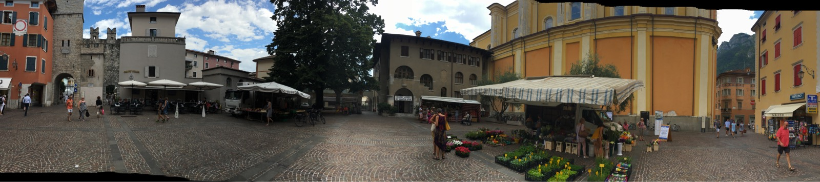That's the main square in Riva. Fresh fruits, astonishing cheese selections and more