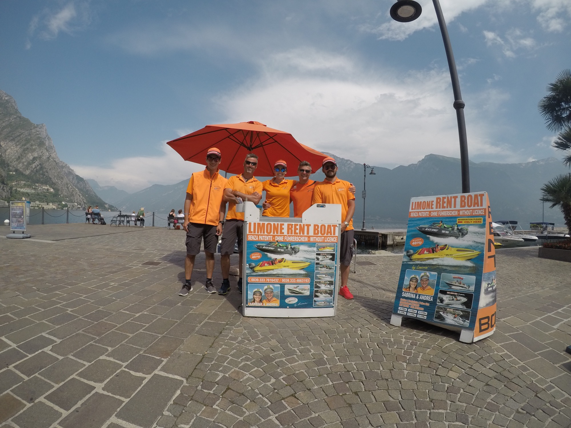 Our Stand at the new Harbour in Limone sul Garda