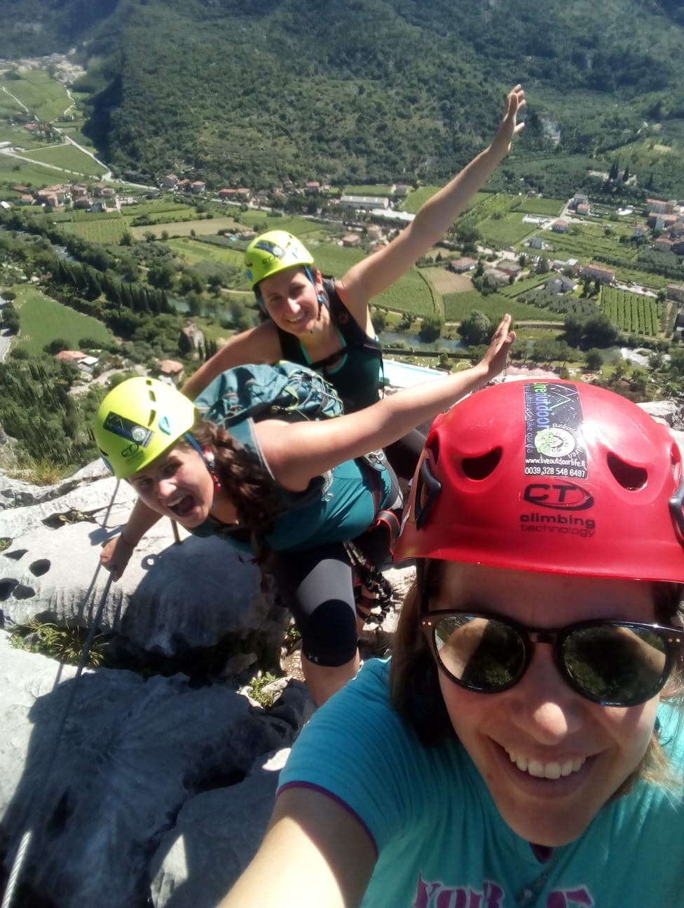 via Ferrata Colodri with funny Austrian nurses 👩🏼‍⚕️🧗🏼‍♀️