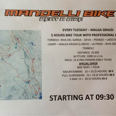 BIKE TOUR TUESDAY - Mandelli Bike Tours - fahrradverleih Gardasee - Mountain Bike sul lago di Garda