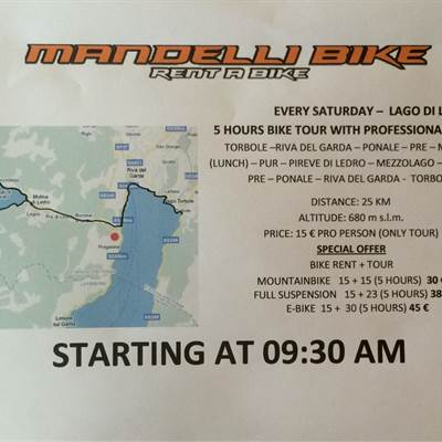TOUR SATURDAY - Bike Tours 2016 - Mountainbiken am Gardasee - Fahrradverleih Gardasee Torbole