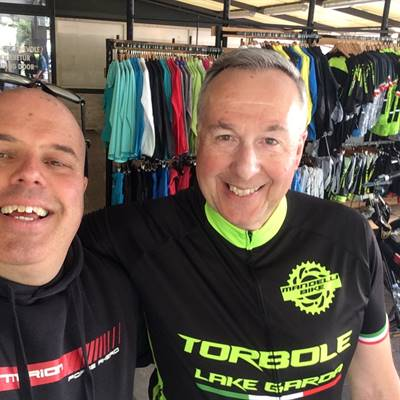 il matto prof. dal Belgio Marc Carens torbole bike shop e-bike rent a bike