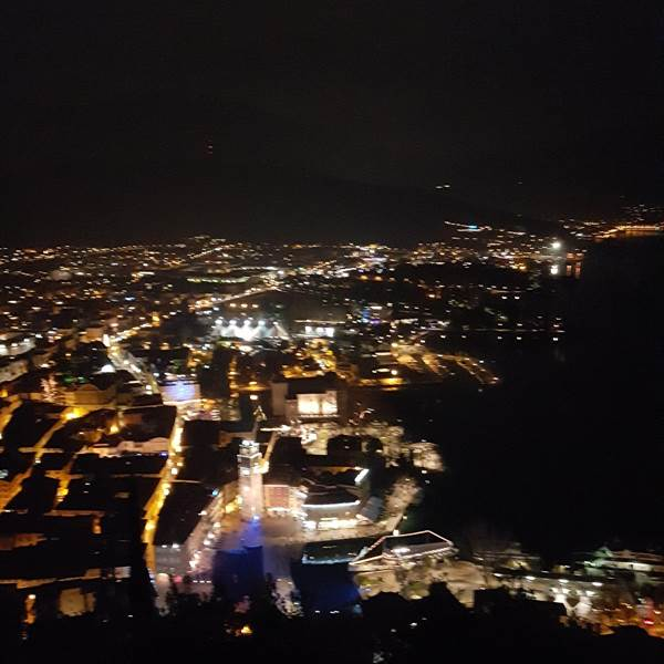 Riva by night: vista dal Bastione