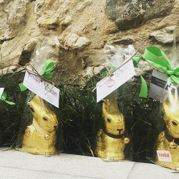 GALLERY - Gold bunny Happy Easter