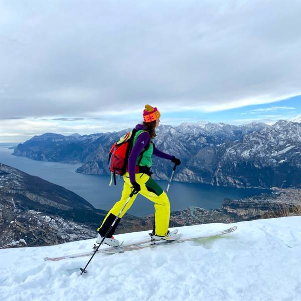Ski touring on Lake Garda