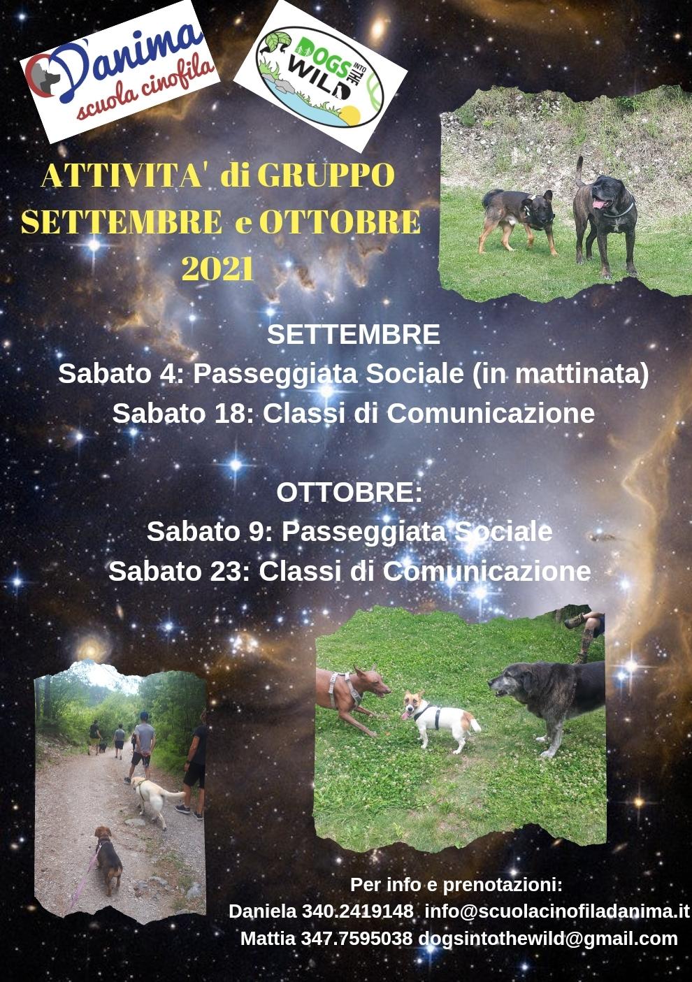 Attività di gruppo settembre/ottobre 2021