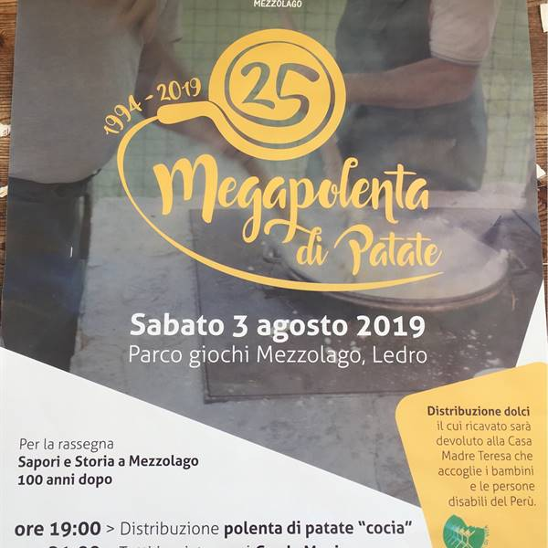 25 anniversario Megapolenta di patate -